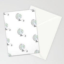 J'ai fait l'tour du monde Stationery Cards
