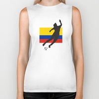 colombia Biker Tanks featuring Colombia - WWC by Alrkeaton