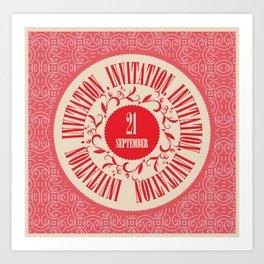 invitation, label, design elements Art Print