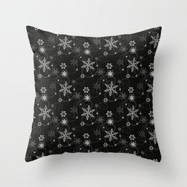 Snowflakes (White) Throw Pillow