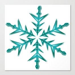 Minimalistic Aquamarine Snowflake Canvas Print
