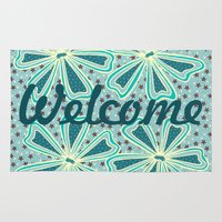 welcome Area & Throw Rugs featuring Welcome by Vickn