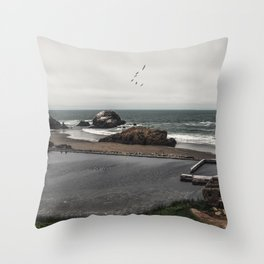 Sutro Baths Ruins Throw Pillow