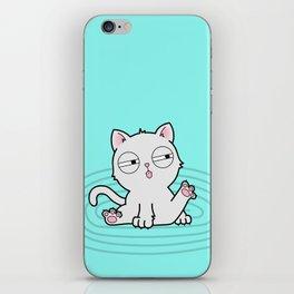 Kitty Bath Time iPhone Skin