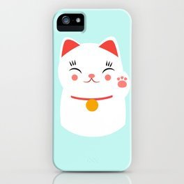 Lucky happy Japanese cat iPhone Case