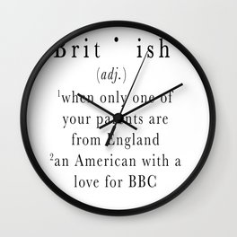 Brit(ish) Wall Clock