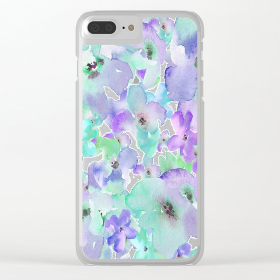 Floral 06 Clear iPhone Case