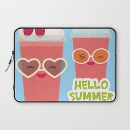 Hello Summer Kawaii cherry smoothie Laptop Sleeve
