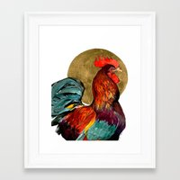 cock Framed Art Prints featuring Cock by Janie