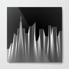 Line City Metal Print