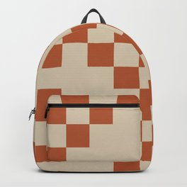 Checked in Burnt Orange Backpack