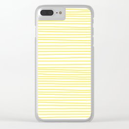 Yellow Lines dancing striped Clear iPhone Case