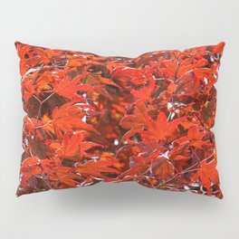 Japanese Red Maple Leaves Pillow Sham