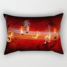 Hot Music Notes Rectangular Pillow