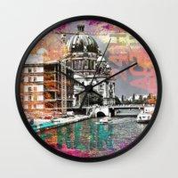 berlin Wall Clocks featuring Berlin  by LebensART