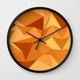 Sand Dunes Abstract Low Polygon Background Wall Clock