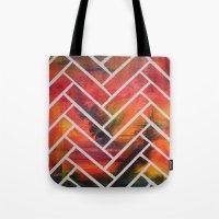 herringbone Tote Bags featuring Herringbone by Alyssa Clancy