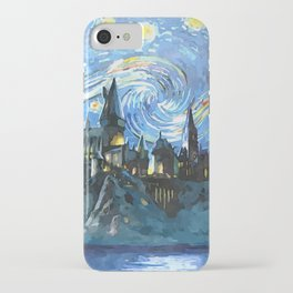 Starry Night in Hogwarts Castle - HP iPhone Case