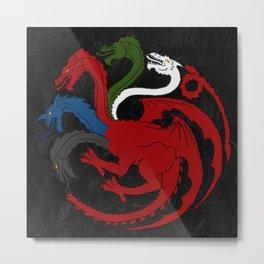 Fantastic Heraldry: Chromatic Dragon Metal Print