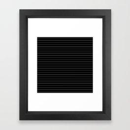 Black White Pinstripe Minimalist Framed Art Print