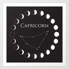 Capricorn Astrology Zodiac Sign Constellation Art Print