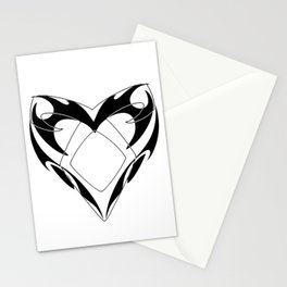 Shadowhunters rune silhouette and tribal heart - Parabatai - Malec Stationery Cards