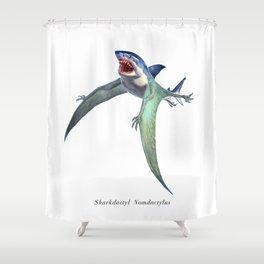 Sharkdactyl Nomdactylus Shower Curtain
