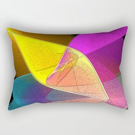 Pinwheel Abstract Rectangular Pillow