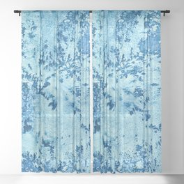Color Fields: Winter Frost Sheer Curtain