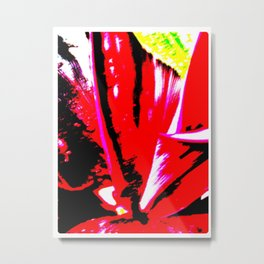 Poster Red Plant - The Garden Series Metal Print
