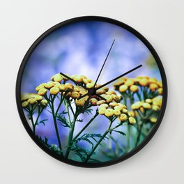 Mountain Flowers Wall Clock