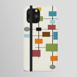 Mid-Century Modern Art 1.3 iPhone Wallet Case