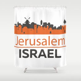 Jerusalem_Israel Shower Curtain