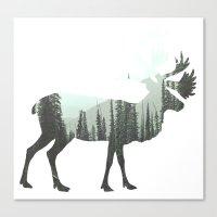 elk Canvas Prints featuring Elk by Luke Gram