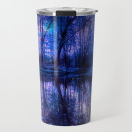 Enchanted Forest Lake Purple Blue Travel Mug