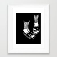 nike Framed Art Prints featuring NIKE by Anna Berger