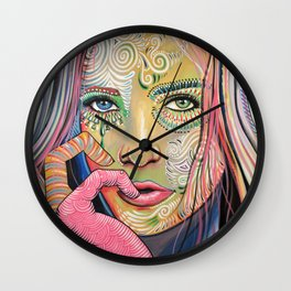 Abstract Art Women Portrait Painting ... Soul of Sunshine Wall Clock