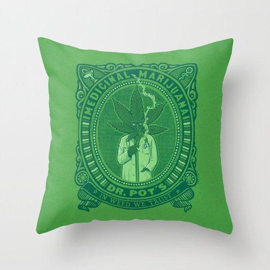 Medicinal Marijuana Throw Pillow