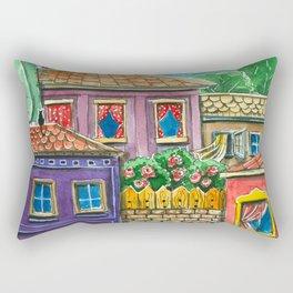 Doodle houses  Rectangular Pillow