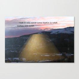 Sunrise Over Mountains Canvas Print