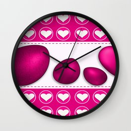 Love celebration easter hearts Wall Clock