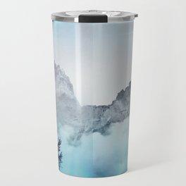 Boreal Lights on the Mountains Travel Mug