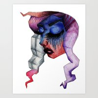 geoface Art Print