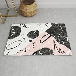 Gray Black Marble Blush White Abstract Glam #1 #trendy #decor #art #society6 Rug