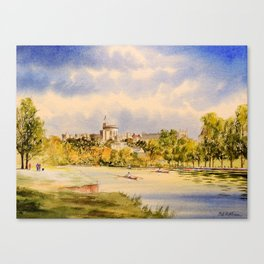 Windsor Castle And River Thames Canvas Print