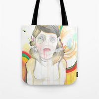 zombie Tote Bags featuring Zombie by Raül Vázquez