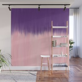 Modern abstract watercolor purple blush pink brushstrokes Wall Mural