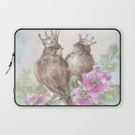 French Crown Songbirds II Laptop Sleeve