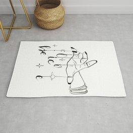 Believe in magic doddle art,white background  Rug