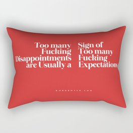 Disappointments Rectangular Pillow